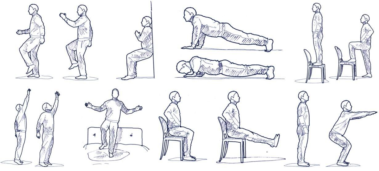 Seitlich hinlegen, der Unterarm befindet sich dabei unterhalb der Schulter, die Beine sind gestreckt. Nun das Becken heben, bis der Körper eine gerade Linie bildet, und wieder absenken.