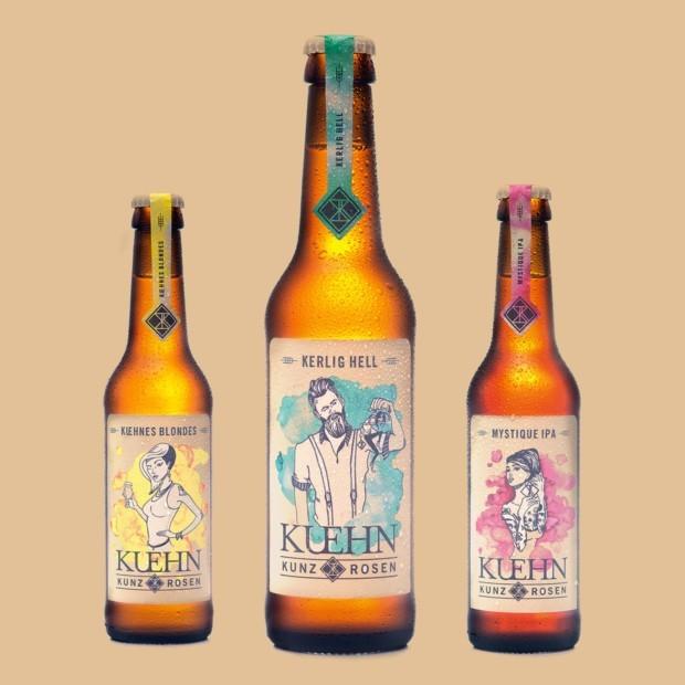 Biere mit Charakter, von IPA bis Lager, wird in den Kesseln von KuehnKunzRosen gebraut.