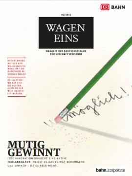 Wagen Eins Magazin für Geschäftsreisende, Ausgabe 2/2015