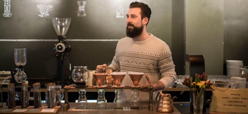 Jörn Gorzolla von der Rösterei Nord Coast Coffee Roastery in Hamburg